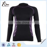 Sports Arm Sleeves Shirts Ladies Polyester Long Sleeve High Neck Tops