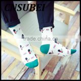 Autumn winter men cartoon cartoon British flag and Britisher pattern popular cotton tube socks