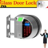 Zks-G1 Newest design fingerprint recognition single tempered glass door lock with remote controller