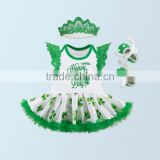 1st St. Patrick's Day Outfit, St Patricks Onesie, Baby Bodysuit, Baby Girl Photo Prop, Baby Girl Outfit, Green Tutu Bloomer