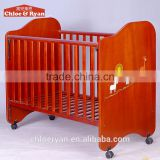 Wood paint free environmentally friendly multifunctional BB baby bed cot price