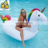 Eco-friendly 7 Color PVC Giant Pool Float Water Pool Floats Inflatable Unicorn