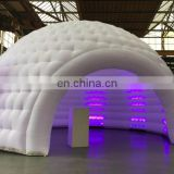2017 Customized LED light inflatable dome party tent, igloo party tent with led light, Custom made dome tent