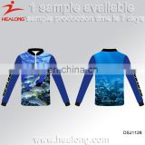 China Sublimated Tournament Wholesale Fishing Jersey Shirts