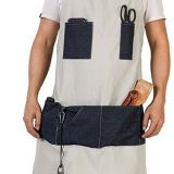 Denim fabric tool aprons 7 pockets waterproof work shop apron for men/wome