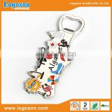 Logoson custom c souvenir gifts fridge magnet bottle opener