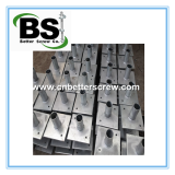 New Construction Pier Caps for helical pilesHot dipped steel helical foundation brackets