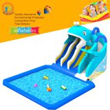 outdoor whale inflatable water park pool water slide