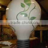 Light bulb custom inflatable balloon leaves logo