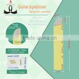 Manual Eyebrow Tattoo Microblading Needle Permanent Eyebrow Makeup Microblading Blades 14 pins                                                                         Quality Choice
