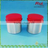100g food grade aluminum jar with red aluminum lid,aluminum screw jar with red aluminum cap