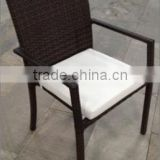 Outdoor comfortable dining roop product non-folding rattan cane chair                                                                         Quality Choice