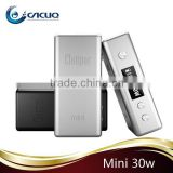 Newest electronic cigarette 18650 battery Ecig Mod Cloupor Mini 30 mod with Variable voltage