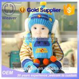 wholesale child christmas gift promotion boy/girl warm beanie hat and scarf winter 6-48 months baby lovely knit cap&hat