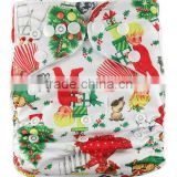 China Supplier Latest Flip Diaper Covers for Christmas Merries