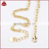14 Inch 14K Wholesales Designs Stainless Steel Mens Jewelry Figaro Chains Link Necklace