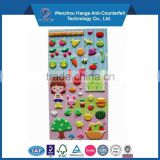 Colorful cute puffy sticker kids room decoration puffy sticker sponge sticker