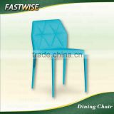 China high quality light blue fabric dining chair for dinning room