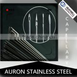 AURON/HEATWELL 1*0.2 stainless steel capillary pipe/tube/1*0.2 ss capillary pipe/1*0.2 ss capillary tube