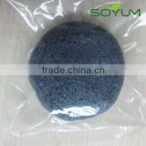 konjac sponge with Bamboo charcoal fibe