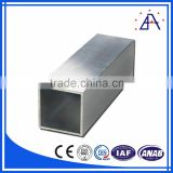 Sliver Anodized Aluminium Square Tube Profile