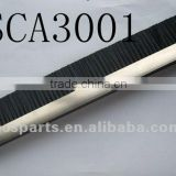 Black Single Brush with Stainless Steel Rail & Black Plastic End Cappings Escalator Safety Brush