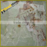 Various colors backlit stone glass wall panel, natural green color onyx wall panel for sale