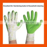 Lightweight Stylish Water Resistence Garden Work Cleaning Gloves,Latex Foam Covering Weeding Gloves