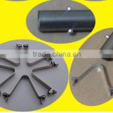 V-shaped double ball riveting solid elastic clasp, tube positioning, leaf spring jump beads, spring