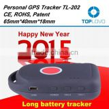 TopLovo TL202 GPS Tracker Power Saving for Child/Elder/Pet with GEO-FENCE Alarm, with free tracking platform and APP