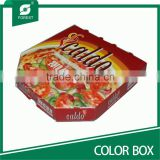 FULL PRINTED COLOR PAPER PIZZA BOX WITH VARNISHING