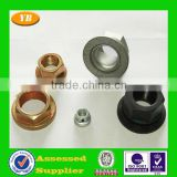brass weld round nuts by oem manufacturer