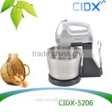 stand hand push electric mixers egg beater with stainless steel bowl (CIDX-5206)                                                                         Quality Choice