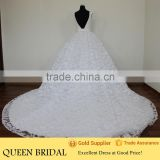 Real Works Lace Long Train Ball Gown Turkish Wedding Dresses 2016                                                                         Quality Choice