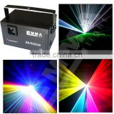 RGB 3000mW led Animation Laser Light 3000 rgb white mixed 3w full color LASER ilda 25kpps Disco Stage Lighting, free shipping
