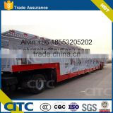 double loading decks open frame hydraulic lifting car carrying semi truck trailer, 3 axles 30m car transport semi truck trailer