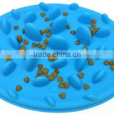hot sell soft materials silicone dog bowl dog challenge slow feeder                                                                         Quality Choice