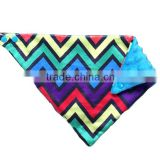 Comfortable Hot Selling Colorful Chevron Pattern Minky Bib For Baby                                                                         Quality Choice