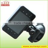 wide angle night vision Full HD 720P dual lens car camera recorder for driving,car dvr,car black box