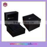 Custom Black Plastic A Single Watch Box With Velvet Pillow WH-1955