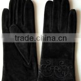 2013 High quality fashion suede leather gloves