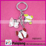 new design colorful butterfly shape metal keychain