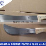 High quality 12'' 18'' farming cutting tools panga machete with wooden handle