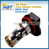 Factory wholesale canbus non-pollarity H8/H11/H9/H10/H16/5202 auto bulb car fog led light auto fog lamp