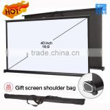 High End H40 40 inch 16:9 Portable Outdoor Foldable Hanging / Desk / Table Projector Screen, mini pull up screen