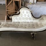 Luxury white chaise lounge bedroom furniture, antique furniture supplier