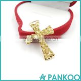 Hot selling 2016 fashion jewelry raw material gold plating cross pendant