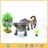 Plastic Natural World Animals Soft Rubber Dinosaur Toy Brontosaurus with Whistle Toys