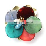 high quality Vintage Style brooch with colouful resin flower shape for woman