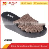 New styles low price sandals woven shoes for women